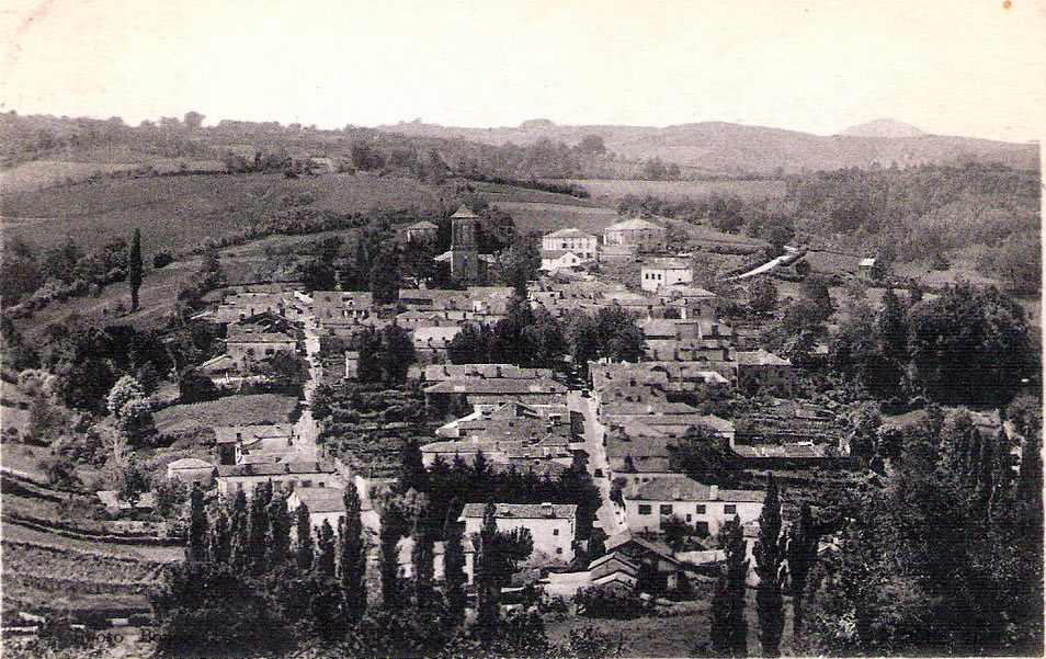 Vue ancienne du village de La Bastide Clairence